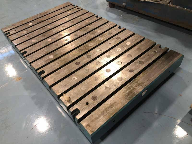 "48"" x 84"" x 6"" Thick T-Slotted Bolster Plate"