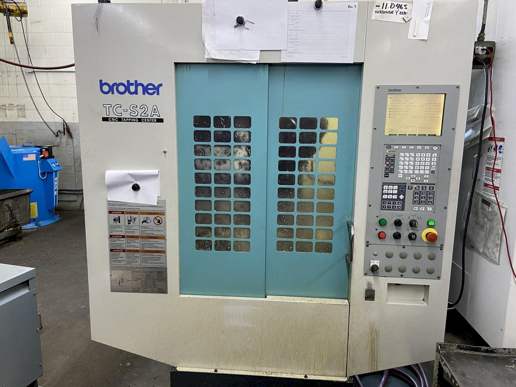 Brother TC-S2A  CNC Drill & Tap Center, A-00 Control, 10K Spindle, 18.8