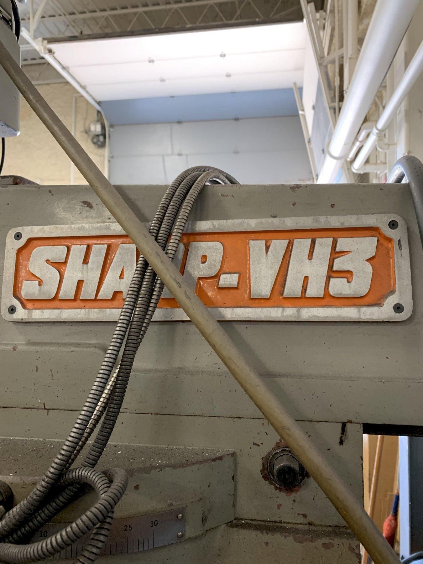 Sharp KF-V3 Heavy Duty Vertical Milling Machine, S/N 93007.