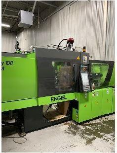 Engel Used VC 200/100 Tech LSR Molding Machine, 100 US ton, Yr. 2013, 3.34 oz.