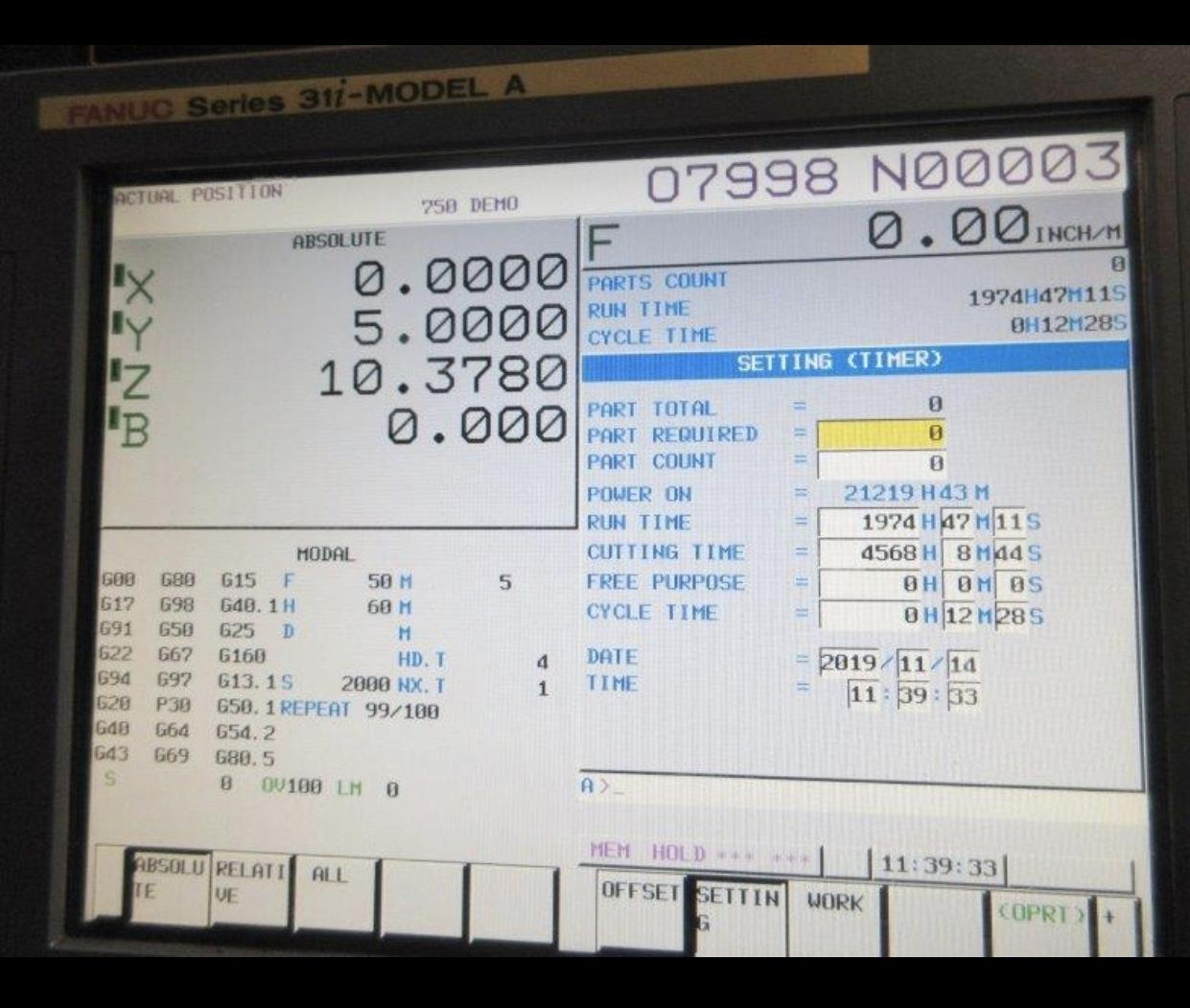 DOOSAN HM 8000 (2012)  FULL 4TH AXIS, TSC, 90 ATC,