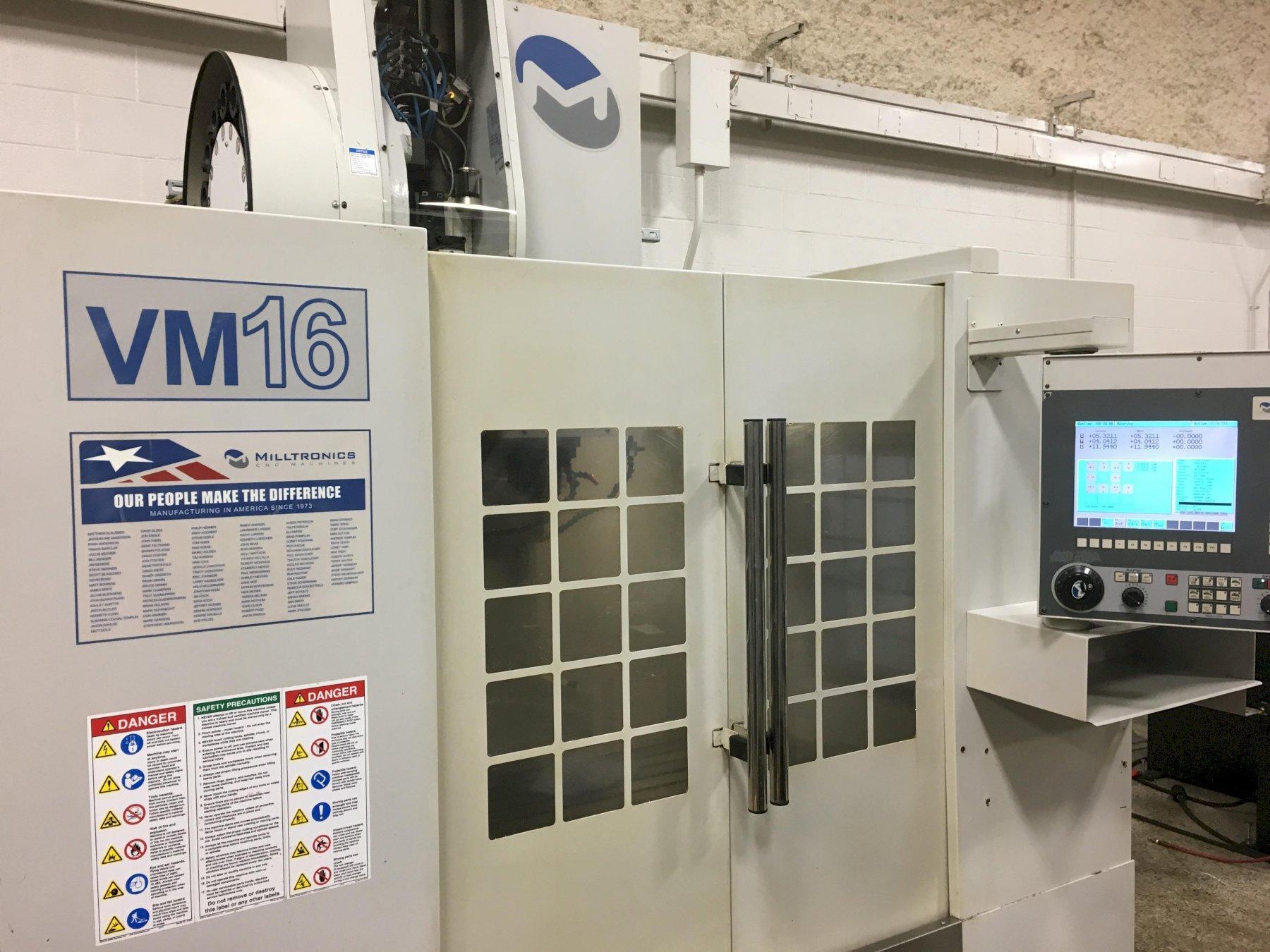 Milltronics Model VM16 CNC Vertical Machining Center, S/N 10673, New 2008.