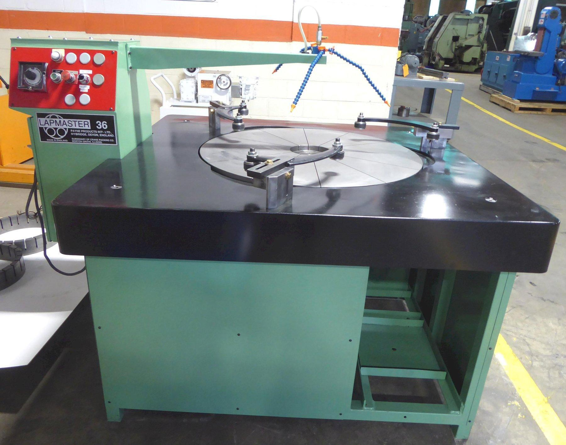 """36"""" LAPMASTER Lapping Machine No. 36, (3) Rings, Open Face, Reconditioned July 2020"""