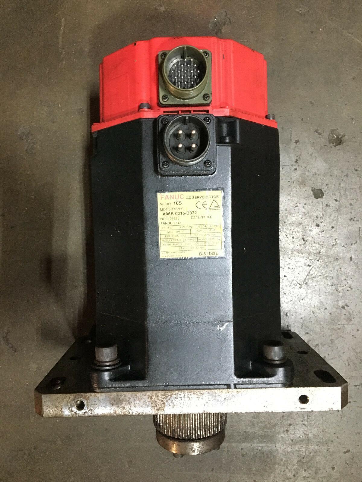 FANUC AC Servo Motor Model 10S, Type: A06B-0315-B072, No: 426925