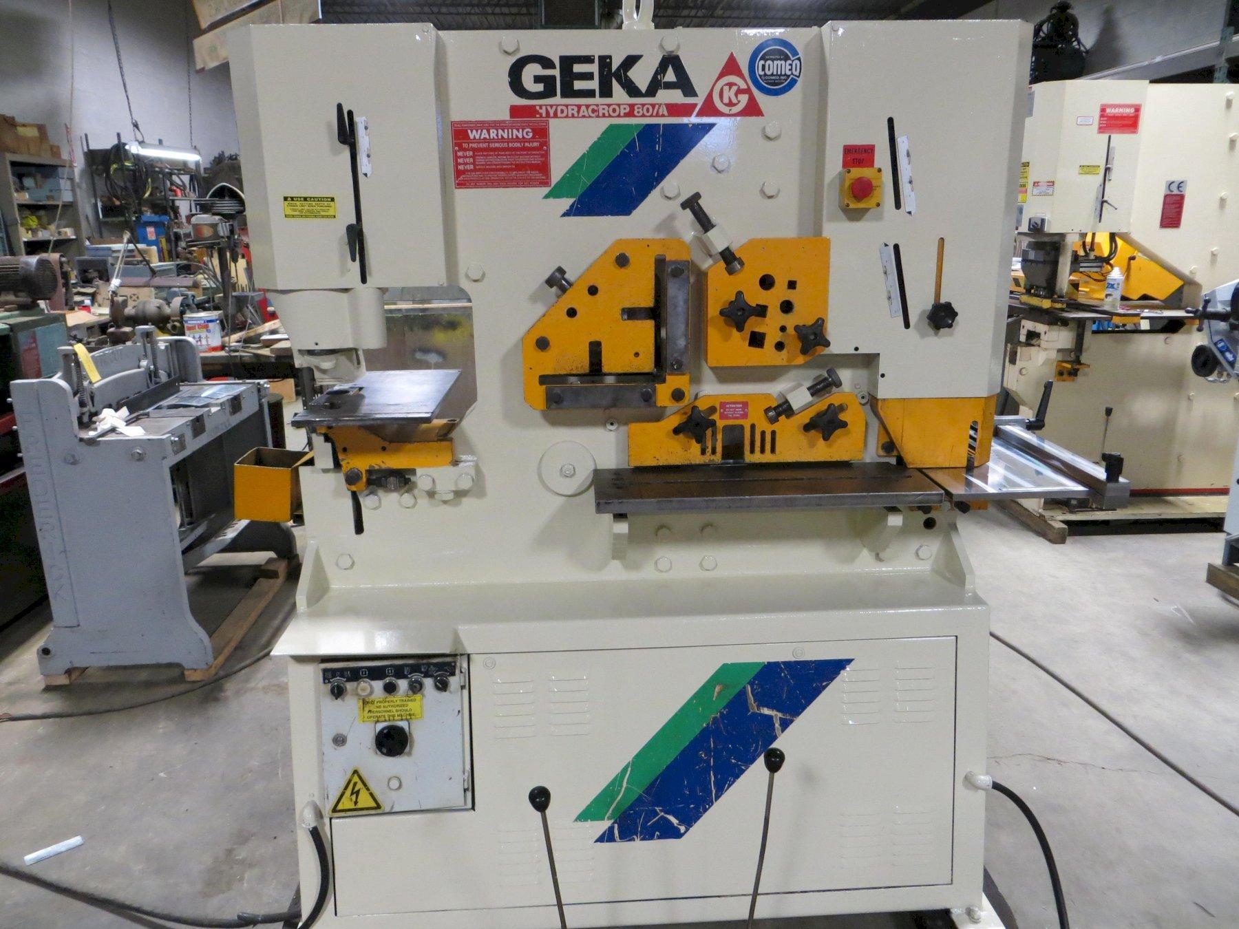 88 Ton, Geka Hydraulic Ironworker Model Hydracrop 80A - Dual Operator