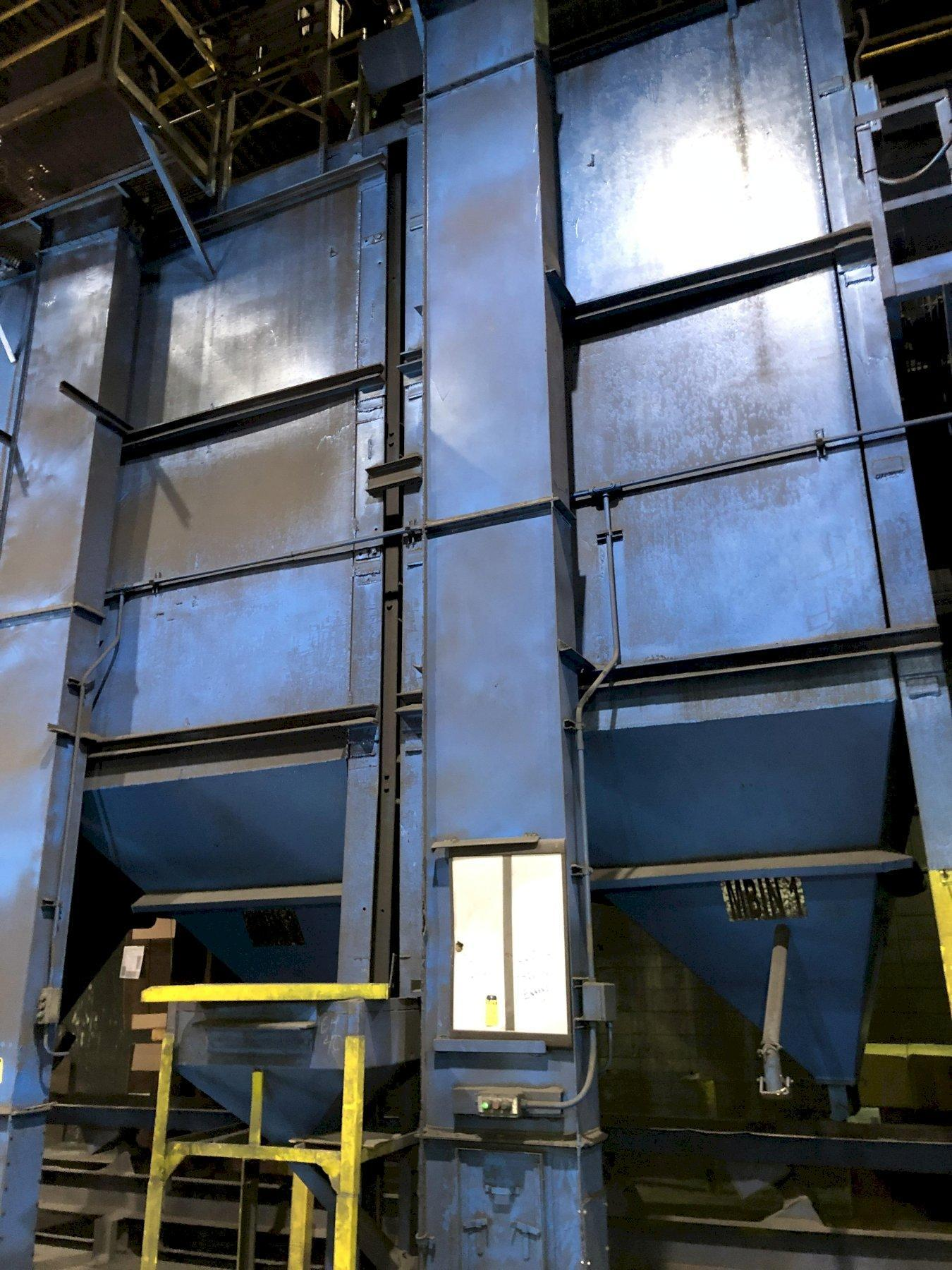 large quantity of bucket elevators, bins, shaker conveyors and belt conveyors throughout the plant, call for more info