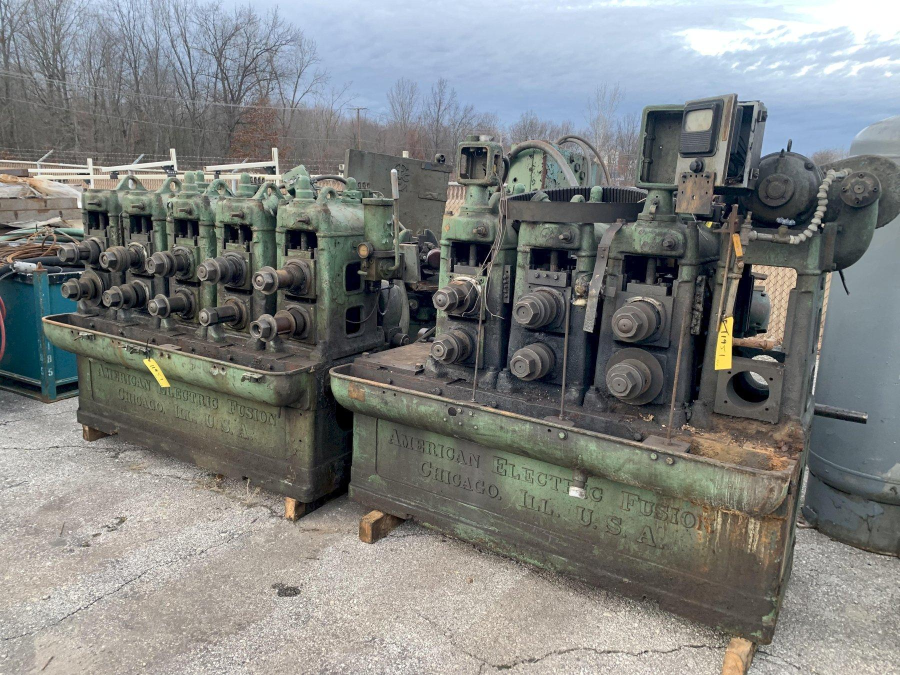 8 STAND AMERICAN ELECTRIC FUSION ROLLFORMER / TUBE MILL: STOCK #11951