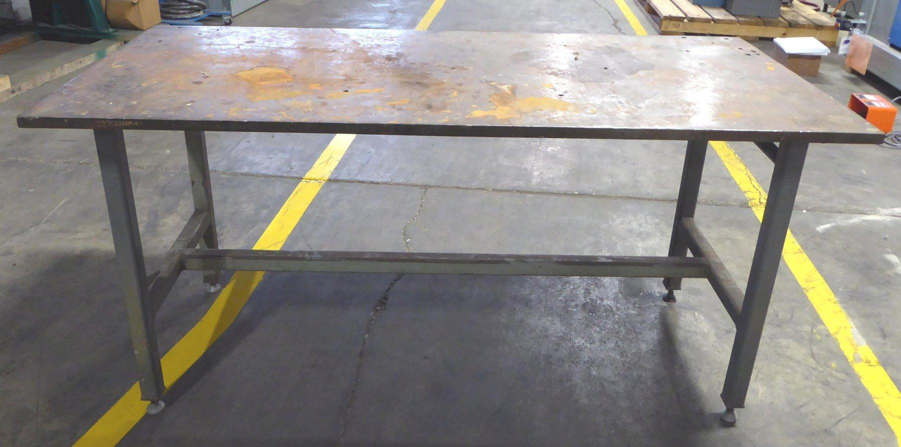 32″ x 72″ Steel Work Table, 1″ Thick, 36″ High