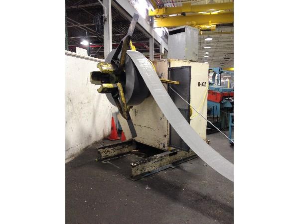 American Steel Line Motorized Coil Reel Uncoiler 20,000 Lbs. x 36