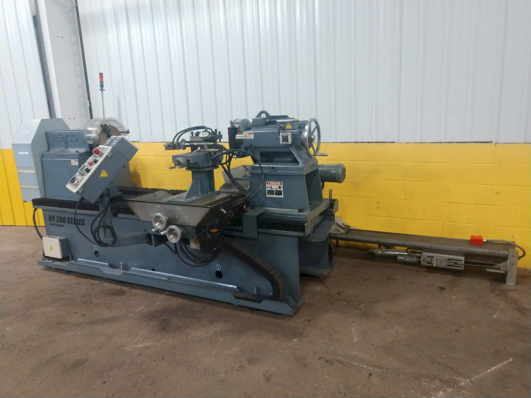 """16"""" X 60"""" REMCO MODEL GY200 RUBBER ROLL GRINDER & LATHE, NEW 2013: STOCK #13644"""