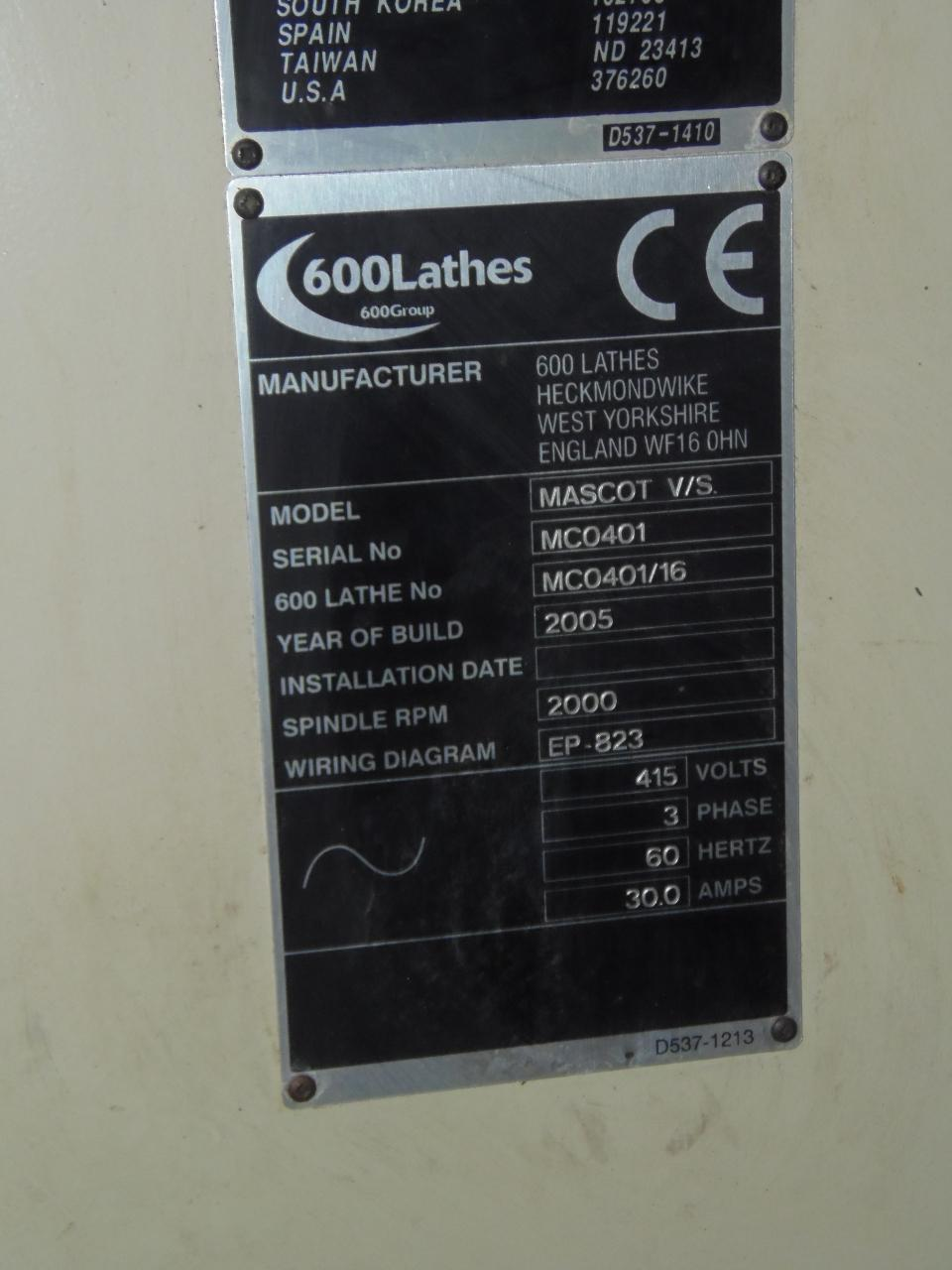 "18"" x 80"" CLAUSING 600 ENGINE LATHE, 10"" 3-JAW CHUCK, 3.0"" THRU HOLE, NEWALL DRO, 2005"