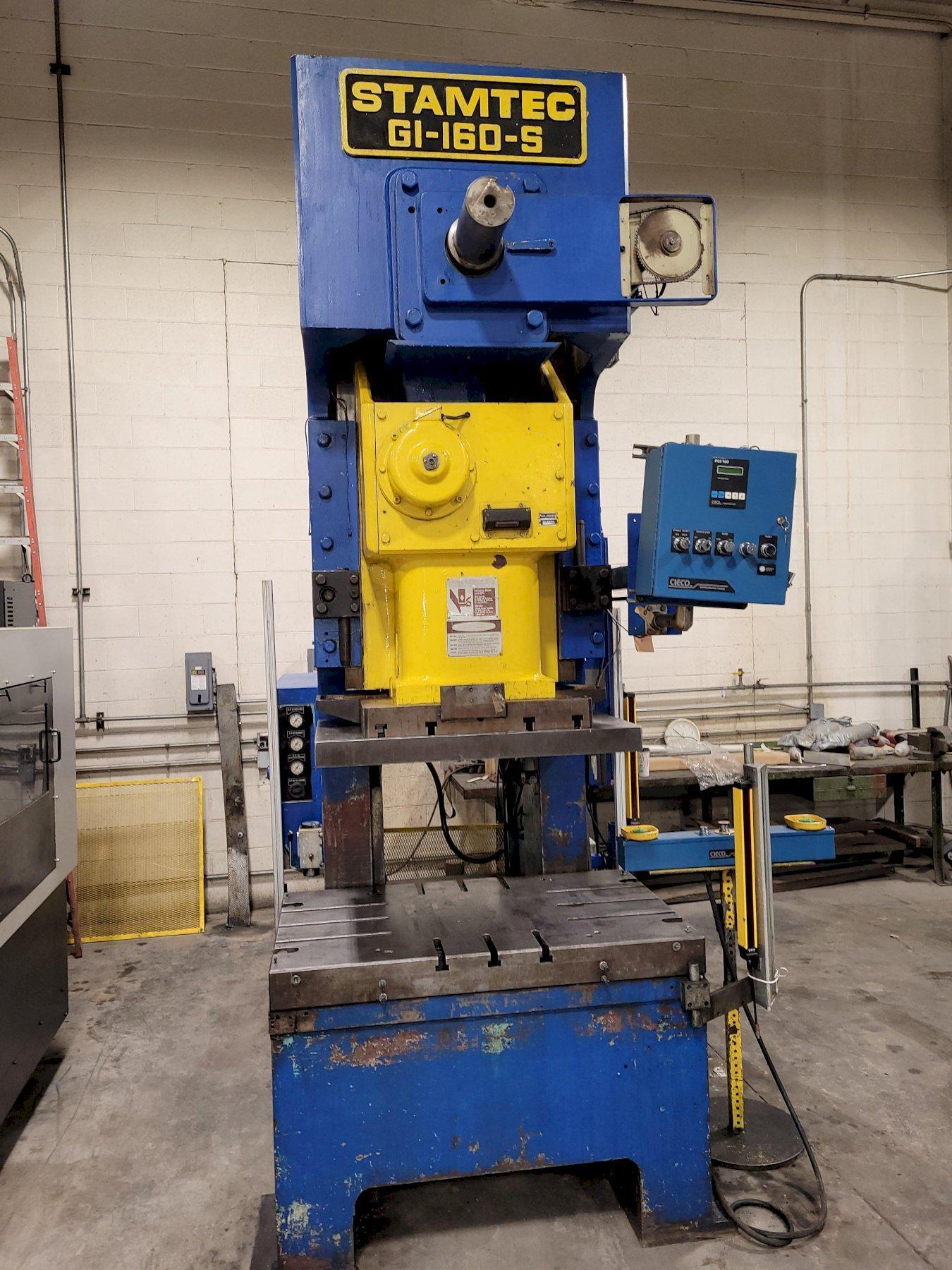 160 Ton Stamtec G1-160-S Gap Frame Punch Press
