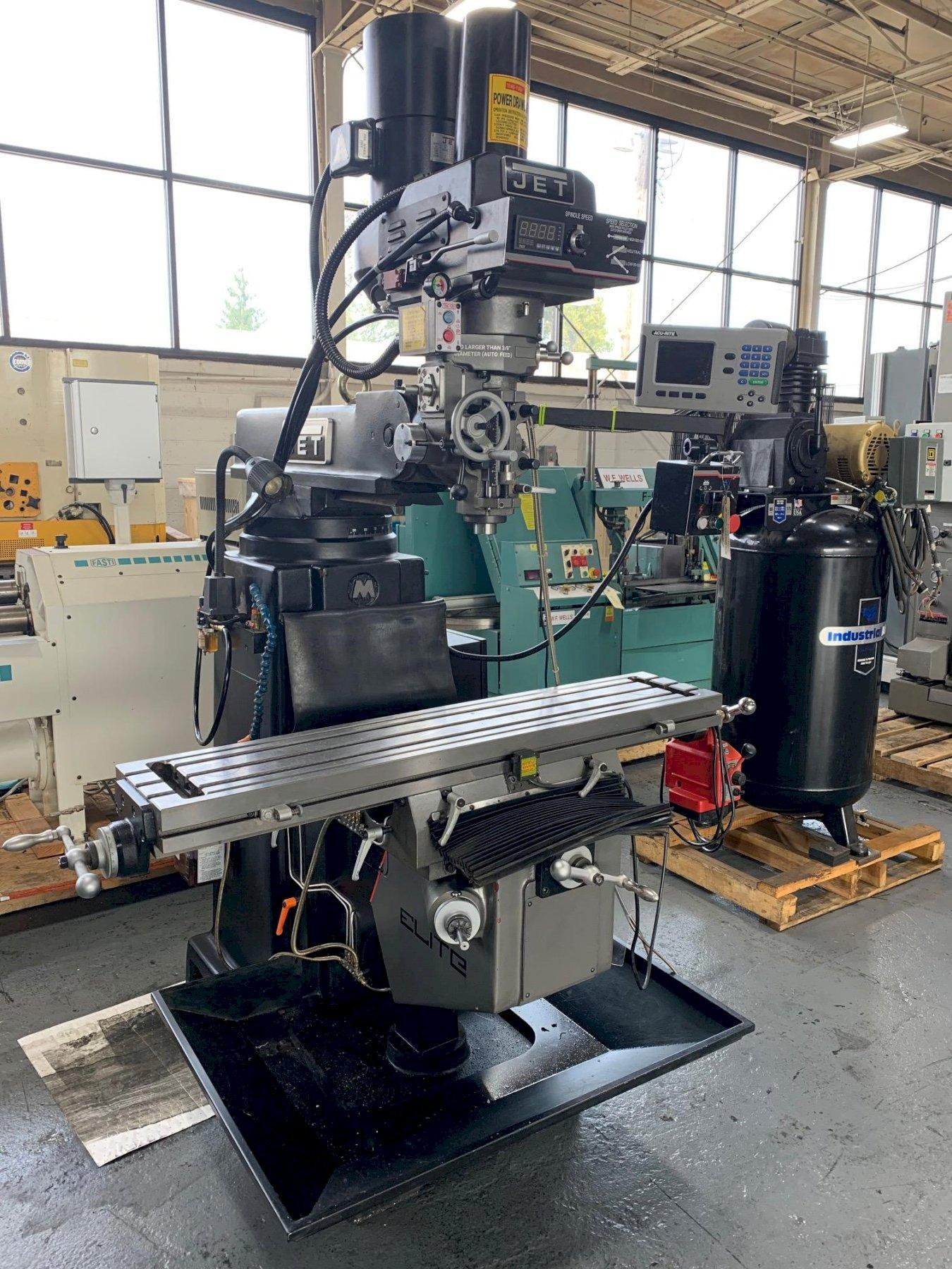 USED JET VERTICAL KNEE MILL MODEL ETM1050EVS, Year 2014, STOCK NO. 10624
