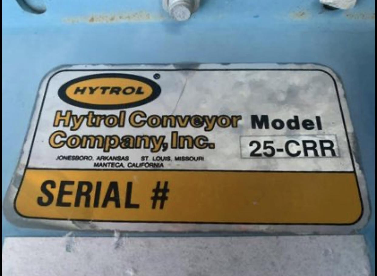 (1) PREOWNED HYTROL MOTORIZED CONVEYOR, MODEL #: 25-CRR, S/N 19227