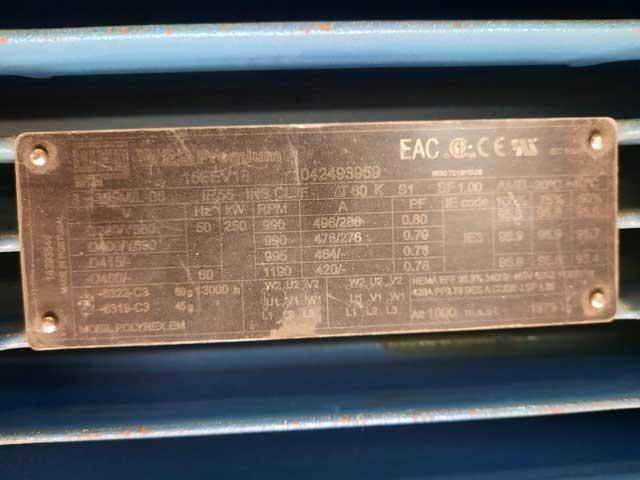 "18"" (450mm) x 34"" (850mm) SUNDWIG 2 HIGH ROLLING MILL, 145kw MOTOR (13959)"