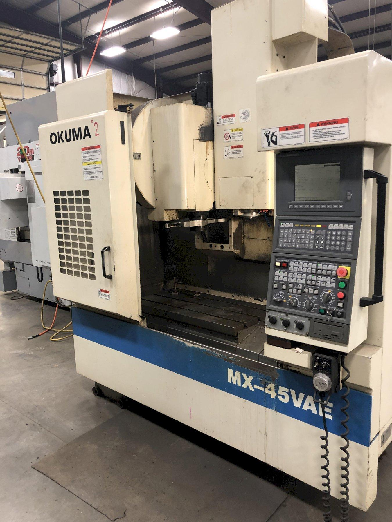 OKUMA MX-45 VAE CNC VERTICAL MACHINING CENTER. STOCK # 1300720