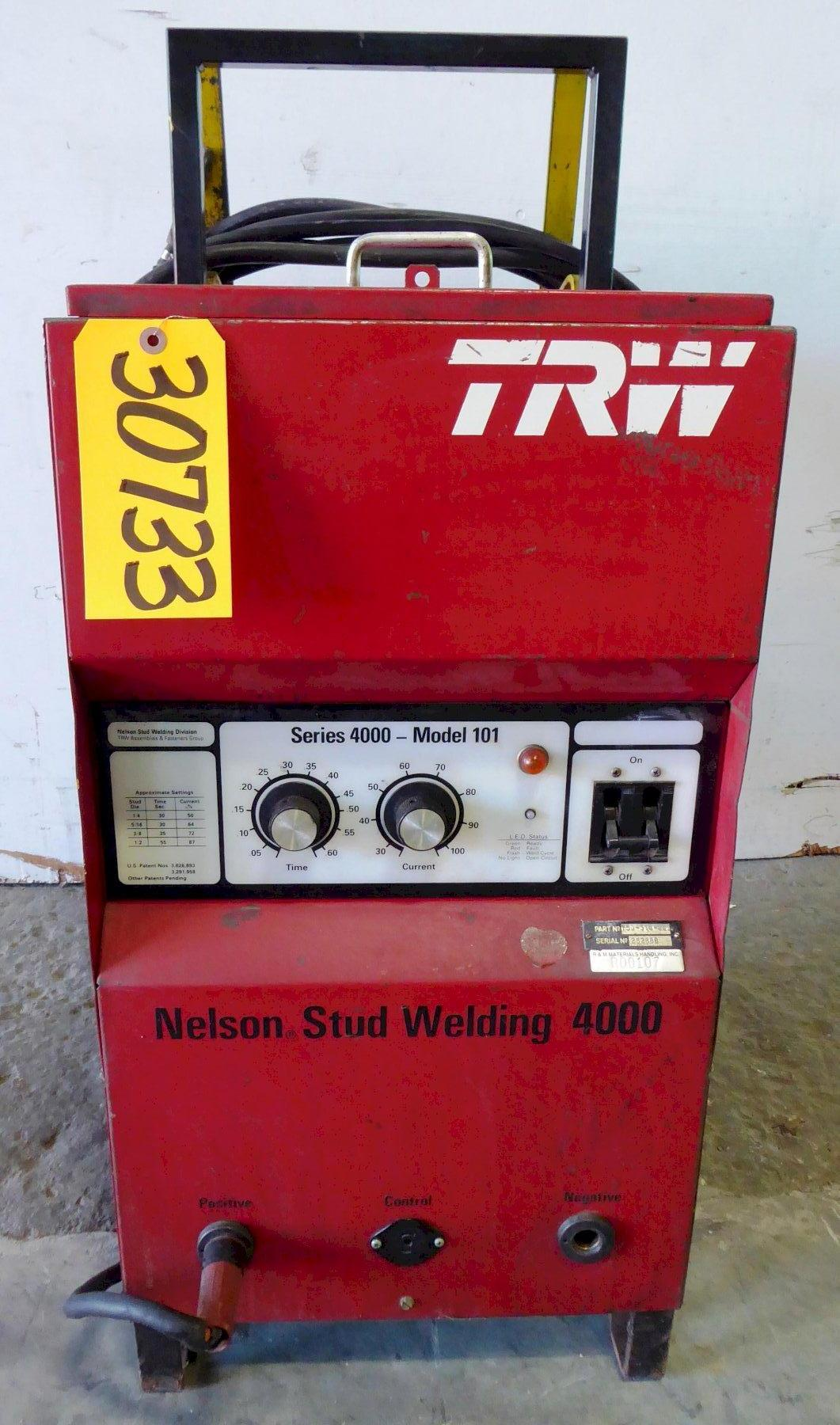 Nelson Stud Welder Series 4000 Model 101, Part No. 750-510-000, Welder and cables, No gun