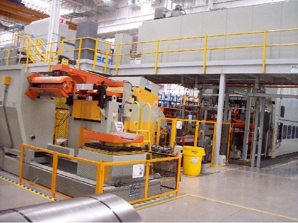 "(S) Dallas Industries / CHS Automation Complete Coil Feed Line 30,000 Lbs. x 42"" Wide x .060"""