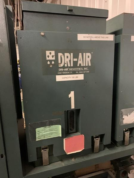 Dri-Air Used Arid X 35 PDII Drying System, Two (2) 100 lbs. Hoppers