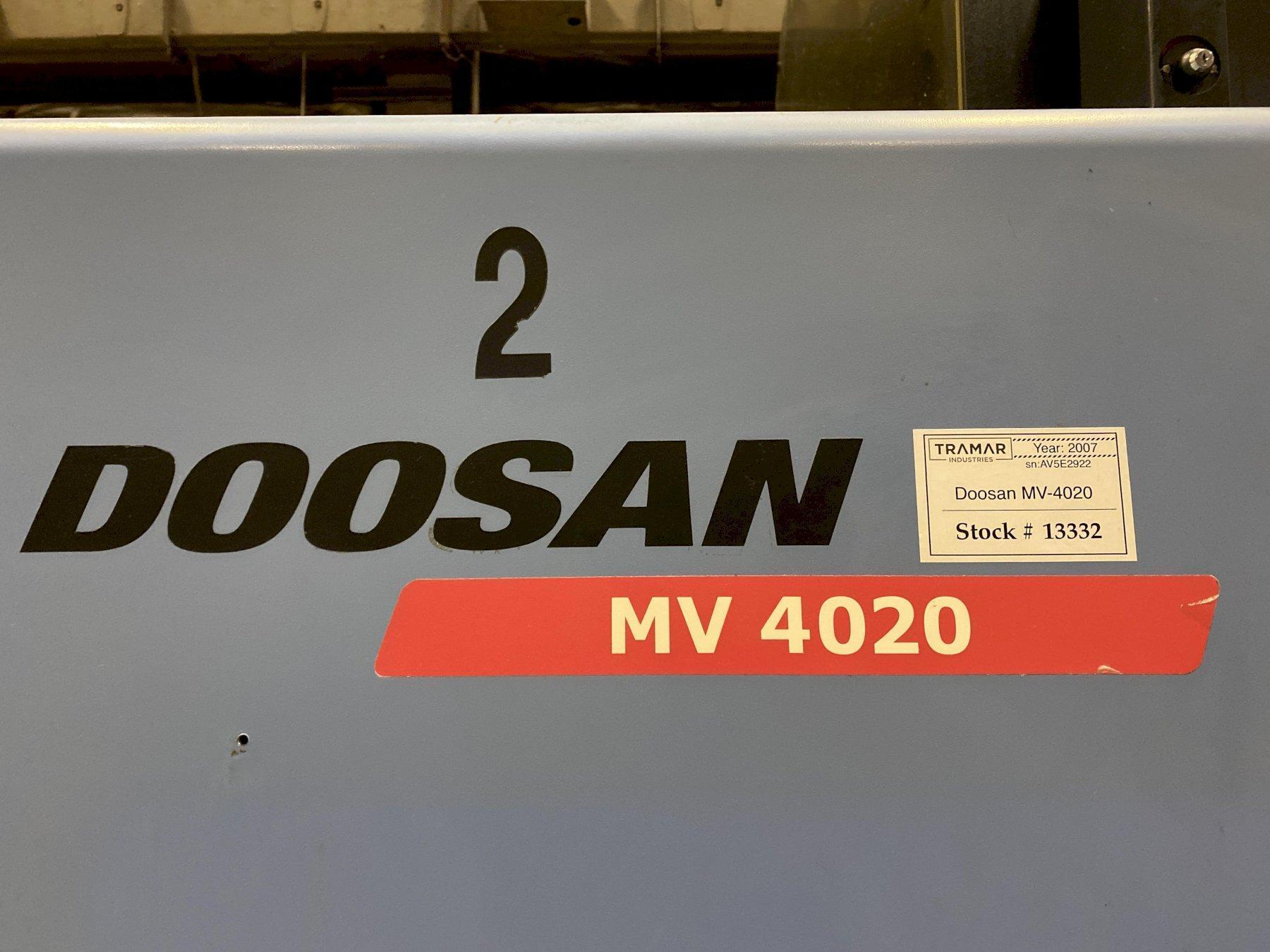 2007 Doosan MV-4020 CNC Vertical Machining Center