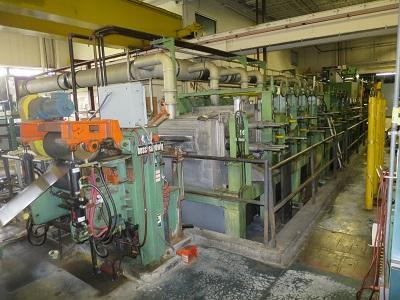 """16"""" (406mm) Ebner Vertical Bright Anneal Furnace w/Alkaline Strip Cleaning Entry   Our stock number: 114405"""