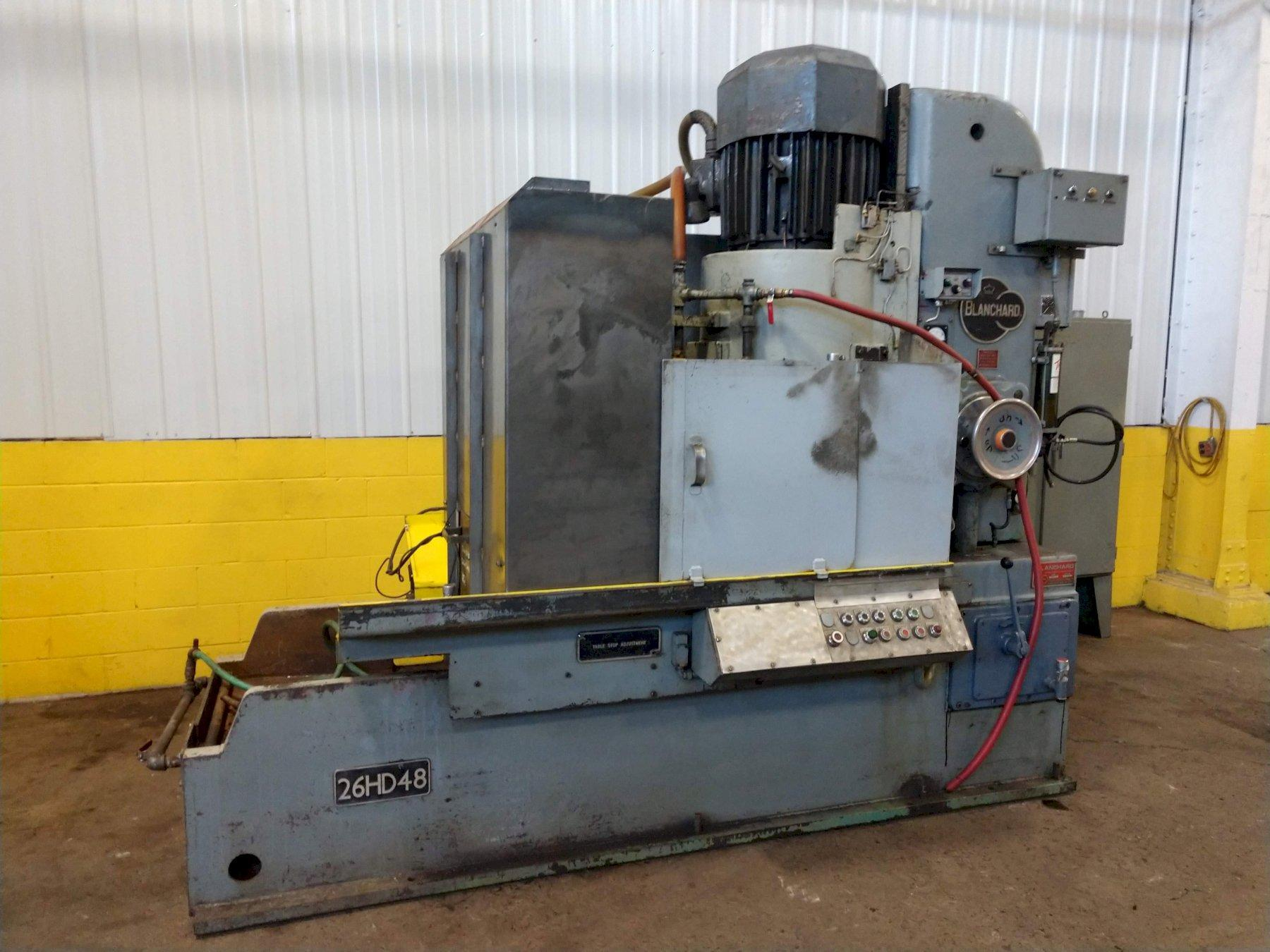 "48"" X 100 HP BLANCHARD MODEL #26HD48 GRINDER: STOCK #12968"