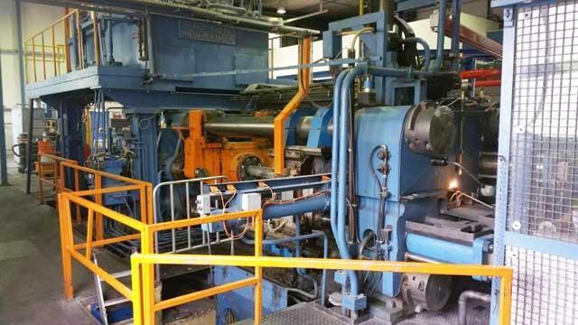 1250 MTon SUTTON MENTACHI BREDA ALUMINUM EXTRUSION PRESS (13772)