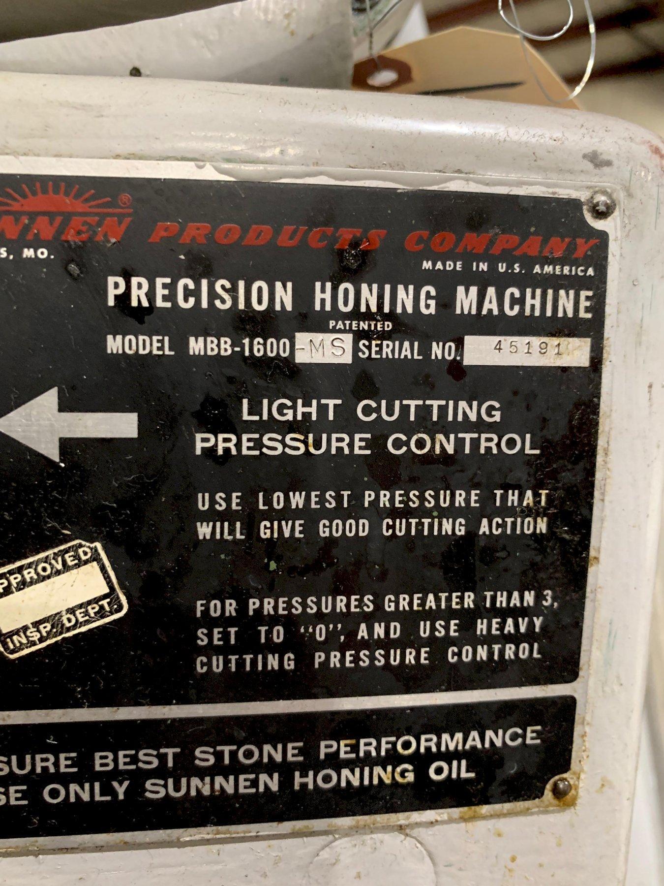 Sunnen Hone Model MBBB-1600-MS
