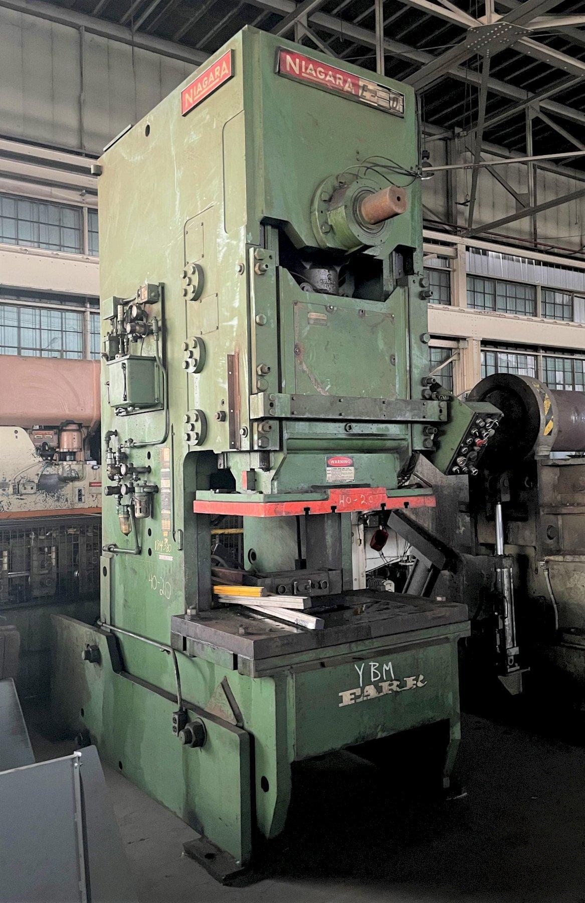 150 TON NIAGARA MODEL #E-150 OBI PRESS: STOCK #13324