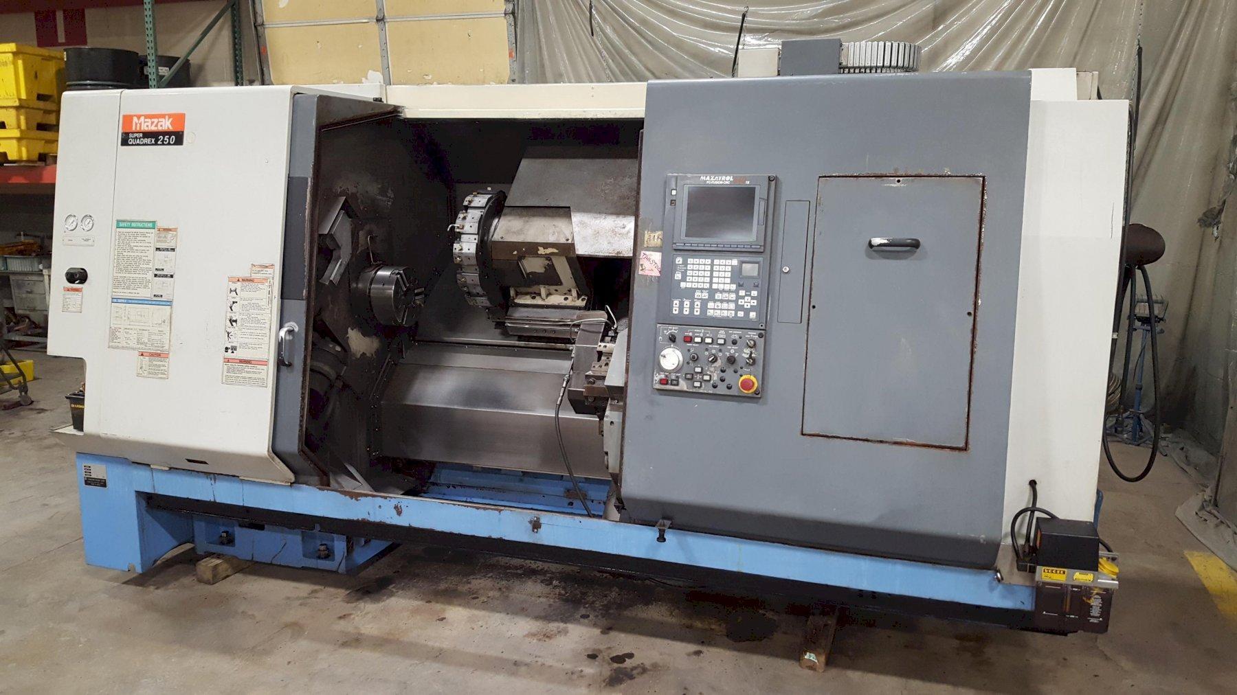 Mazak Super Quadrex 250 (SQ250) Twin Turret CNC Turning Machine