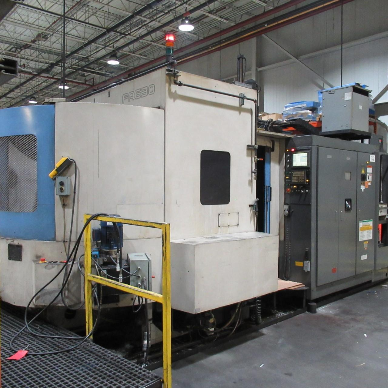 TOYODA FA-630 HORIZONTAL MACHINING CENTER, HIGH PRESSURE THROUGH SPINDLE COOLANT, YEAR 2003/12