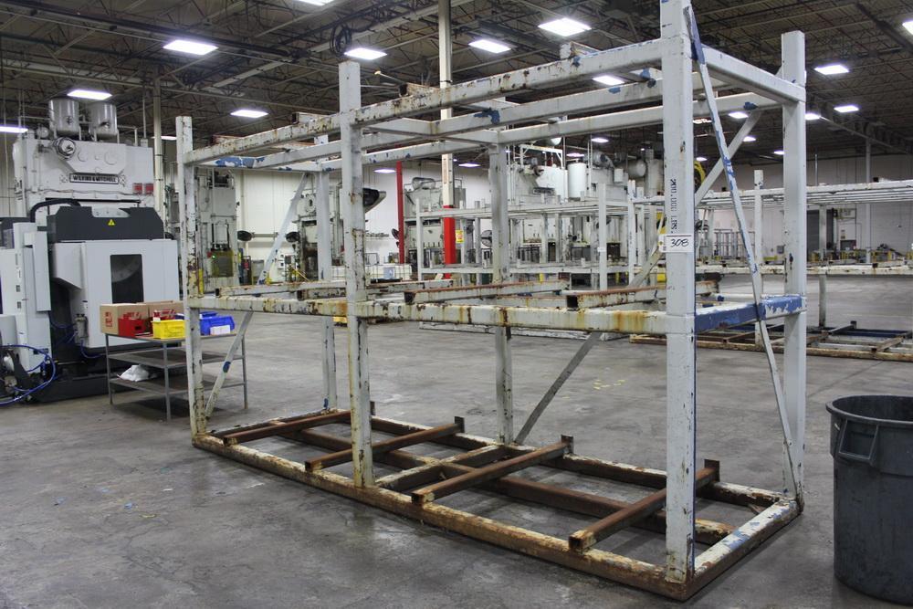 """60"""" x 180"""" 3 Tier Steel Die Storage Rack"""