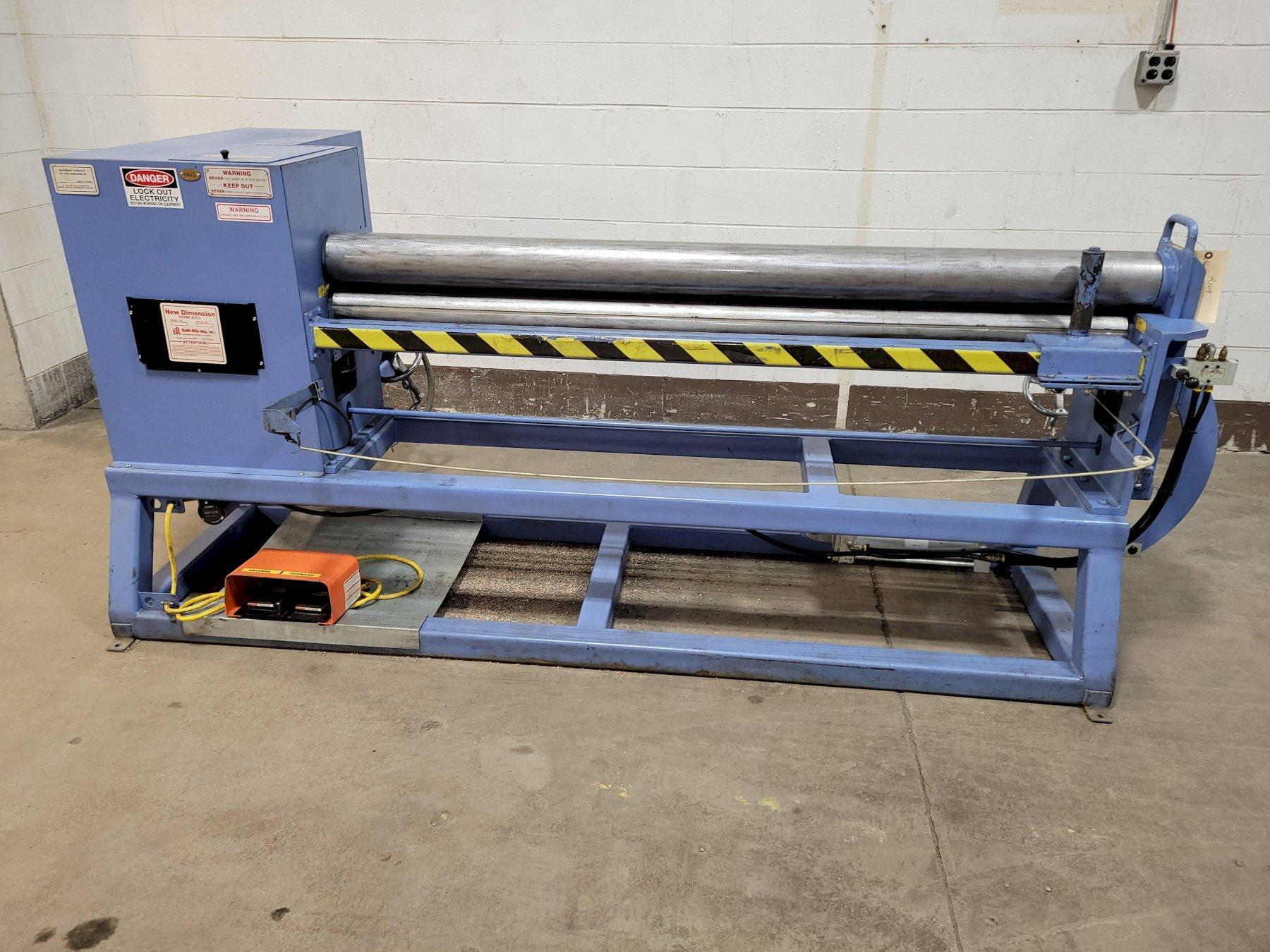 6' x 12GA New Dimension Model MP6-105 Initial Pinch Bending Roll