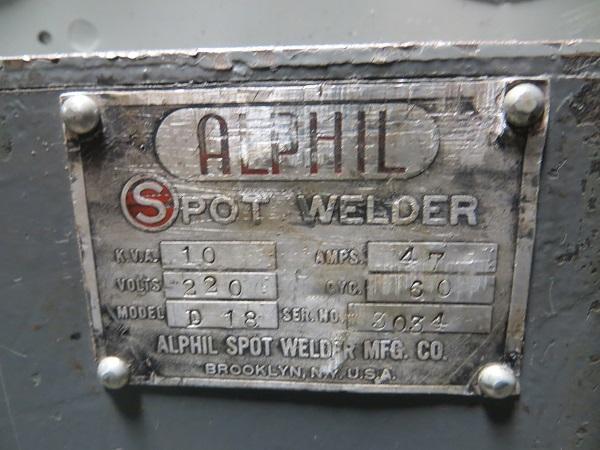 10 KVA Alphil Rocker Arm Spot Welder - Foot Operated