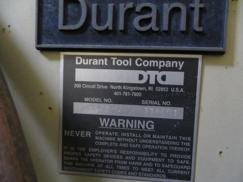 "6,000 lb x 72"" Wide Durant Heavy Duty Uncoiling Reel, Model HD-672-U"
