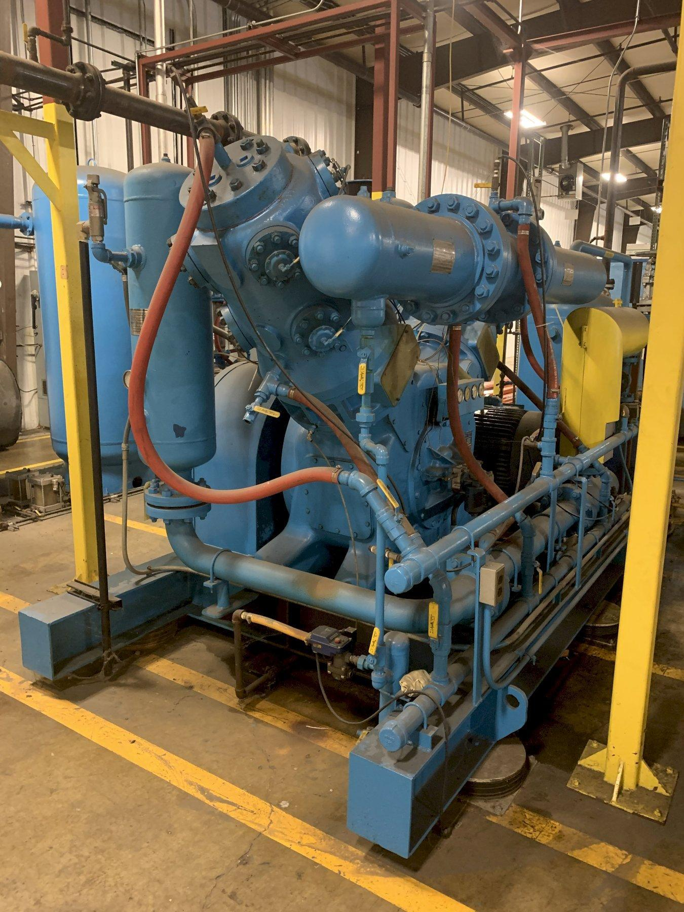 100 HP NEI BELLISS & MORCOM AIR COMPRESSOR WITH HANKINSON AIR DRYER SYSTEM: STOCK 11462
