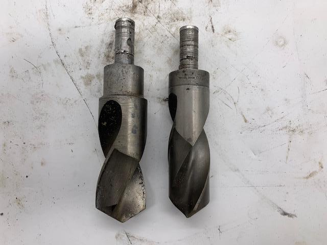 """1-5/16"""" & 1-1/2"""" TWO MOORE SPECIAL STANDARD HIGH-SPEED DRILL BITS  (MATCHING MALE PIECE): STOCK #15273"""