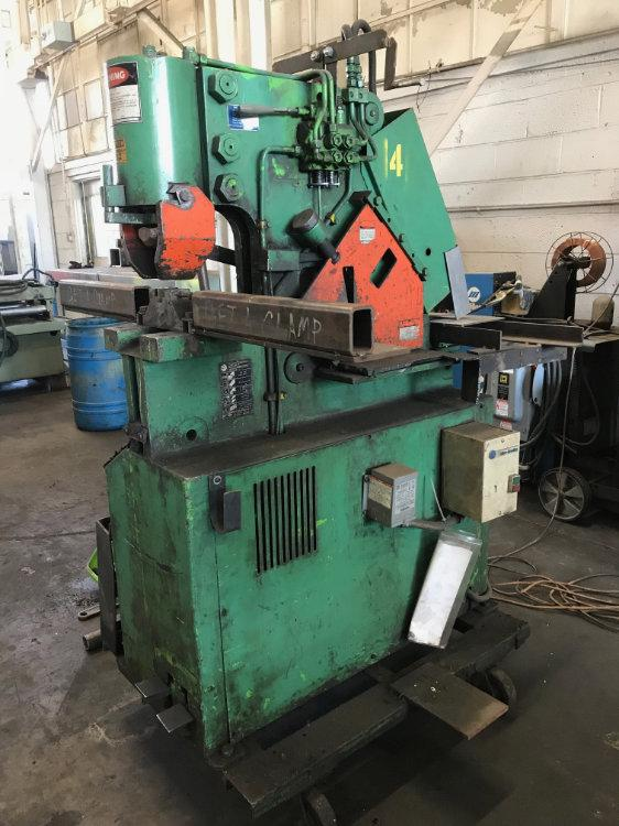 USED MUBEA 50 TON HYDRAULIC IRONWORKER , Model HIW 50, 50 ton, Stock No. 10487