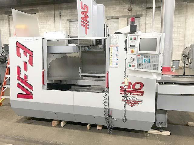 "HAAS VF-3 2-PALLET, Haas CNC, X=40"", Y=20"", Z=25"", 30HP, 7500 RPM, 32 Station Tool Changer, Thru Spindle Coolant, New 1998."