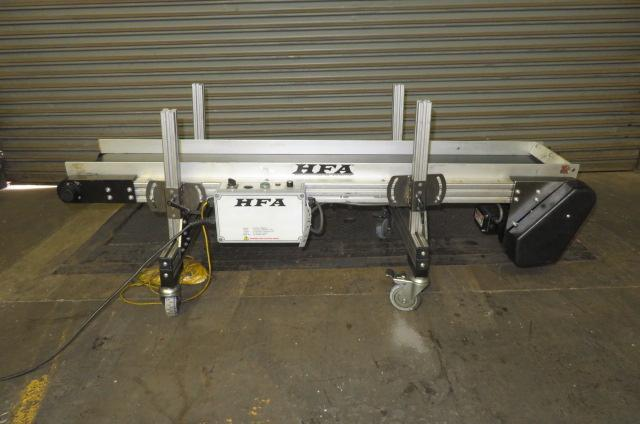 HFA Used 2210 Variable Speed Horizontal Conveyor, 10 in wide x 10ft long, 115V