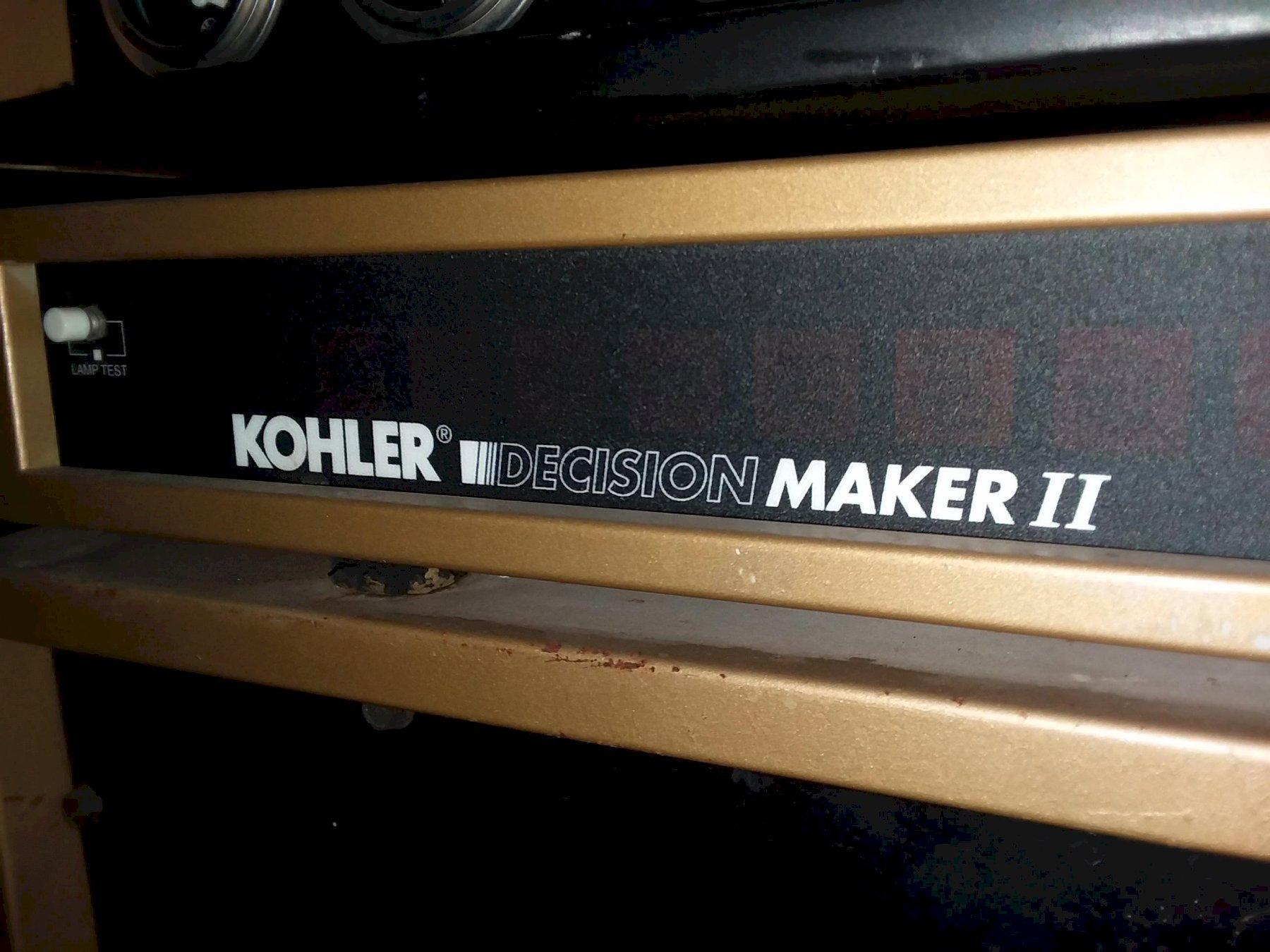 (1) PREOWNED KOHLER DECISION MAKER II GENERATOR SET, MODEL <br>60ROZ81, S/N 055647