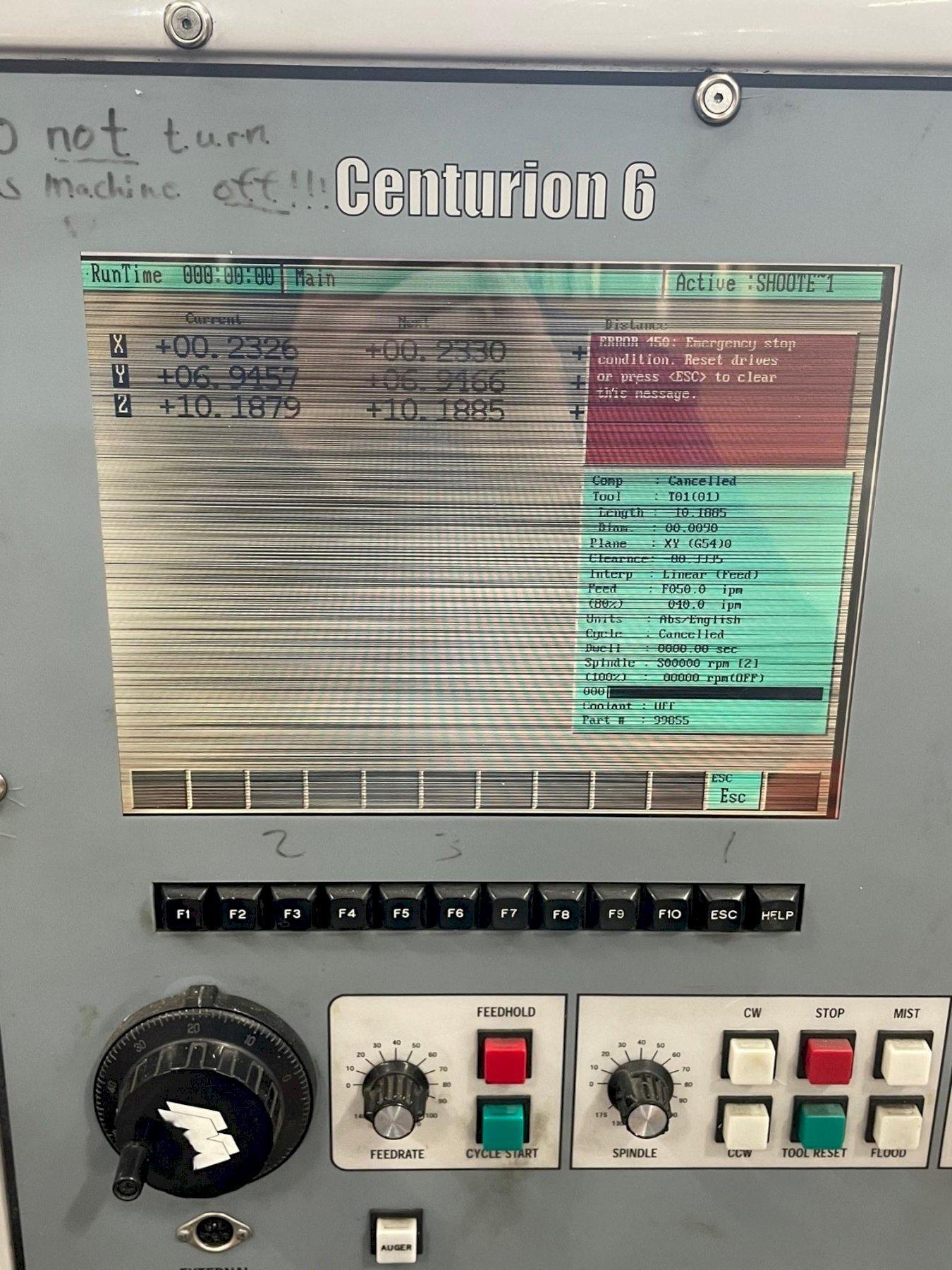 MILLTRONICS VM16 CNC VERTICAL MACHINING CENTER