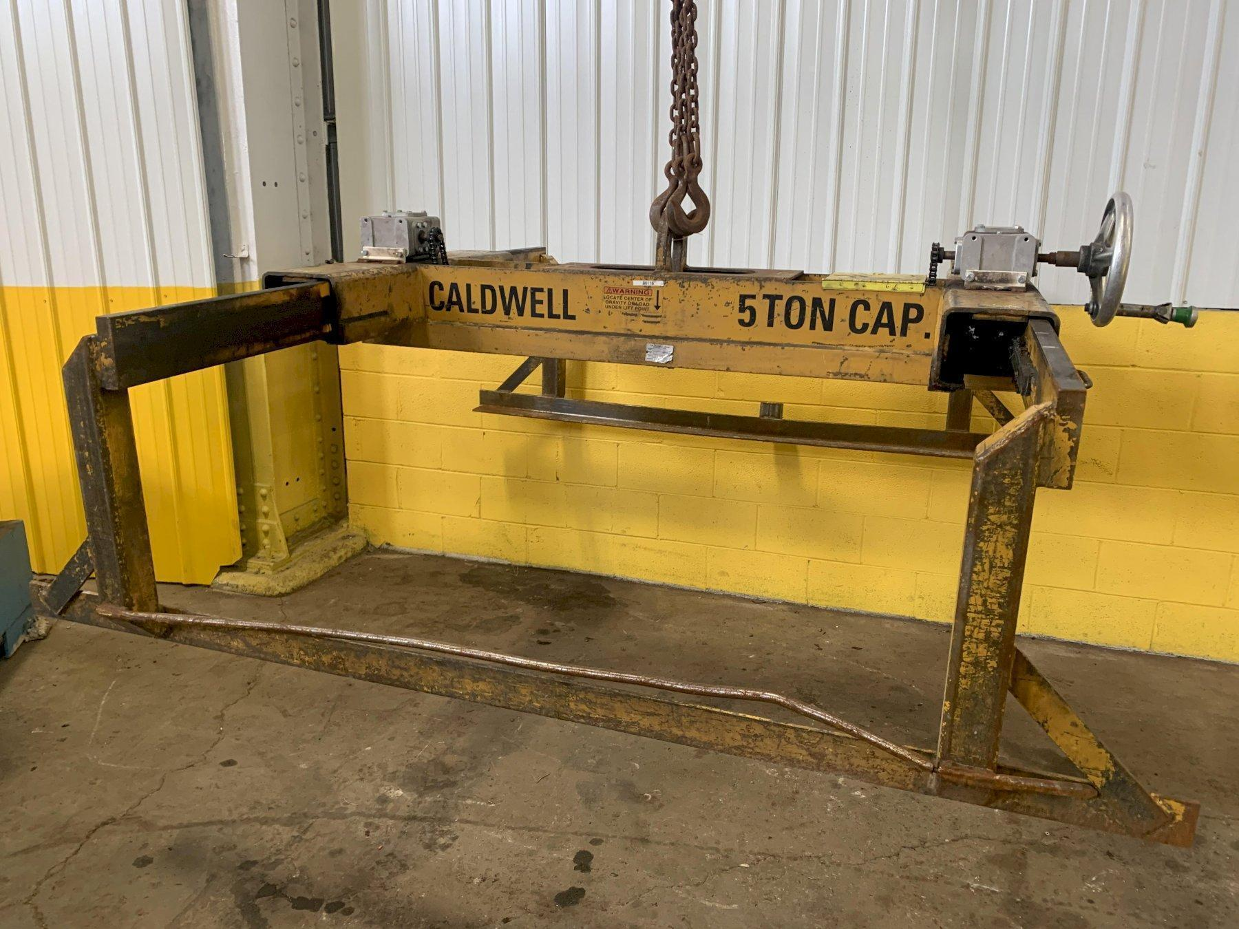 "10,000 LBS X 120"" X 24-80"" WIDE CALDWELL ADJUSTABLE SHEET LIFTER. STOCK # 0613920"