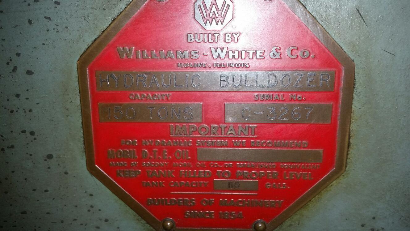 150 TON WILLIAMS & WHITE HYDRAULIC BULLDOZER: STOCK 66716