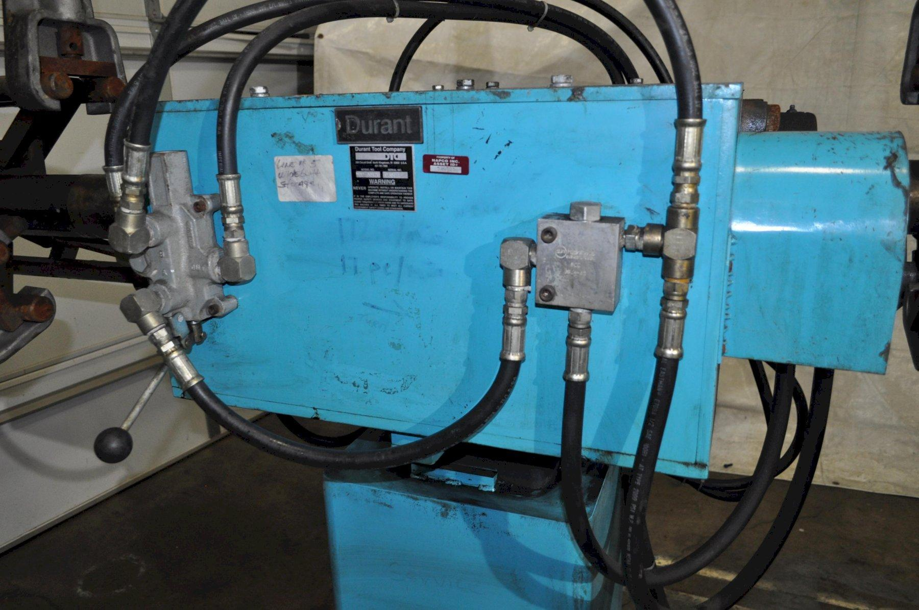 3,000 LB DOUBLE END DURANT UNCOILER WITH HYDRAULIC EXPANSION