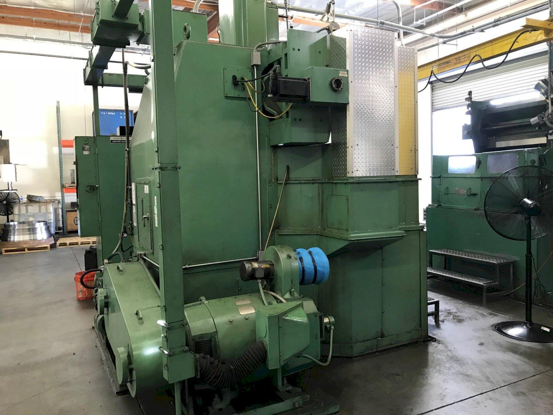 "52"" BULLARD DYNE AU TURN, 46"" POWER CHUCK, 52"" SWING, 5 SIDED POWER INDEX TURRET, ALLEN BRADLEY SERIES 9 CNC CONTROL, 75 HP, 1983"