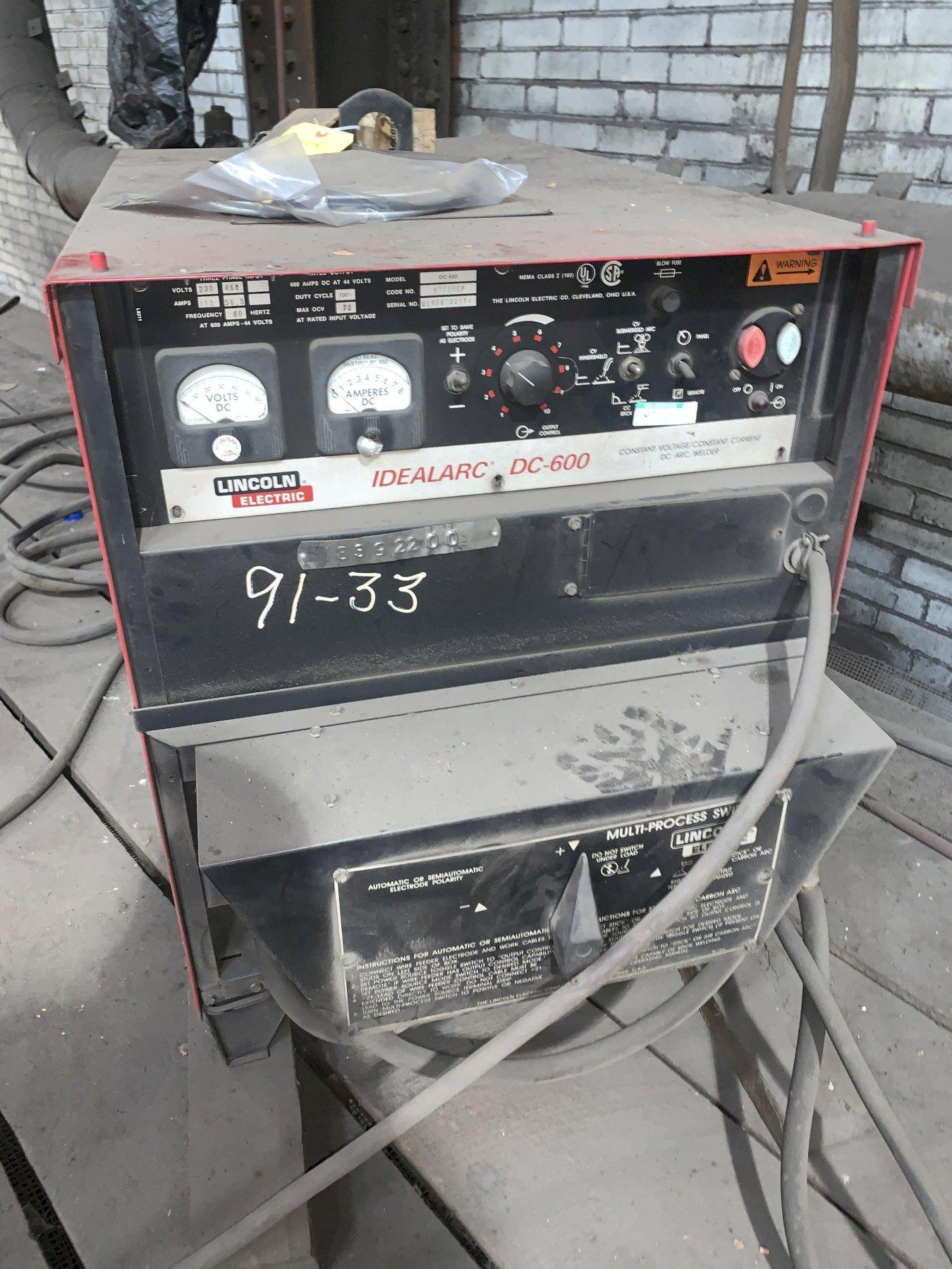 LINCOLN ELECTRIC IDEALARC DC-600 ARC WELDER WITH SWITCH: STOCK #13673