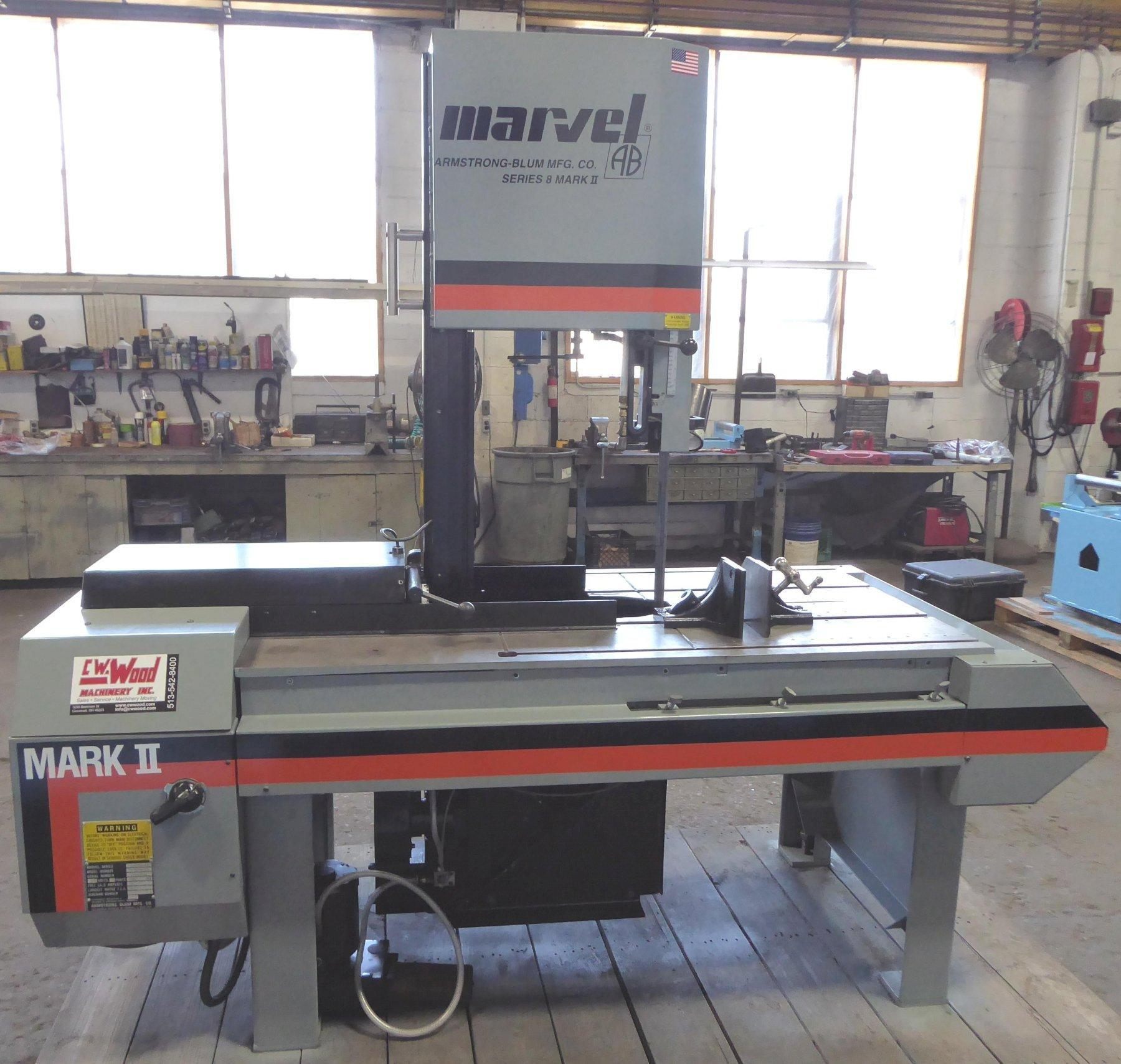 "18"" x 22"" MARVEL Series 8 Mark II  Tilt Head Vertical Band Saw, 1"" Blade, 2 HP, Reconditioned 2020"