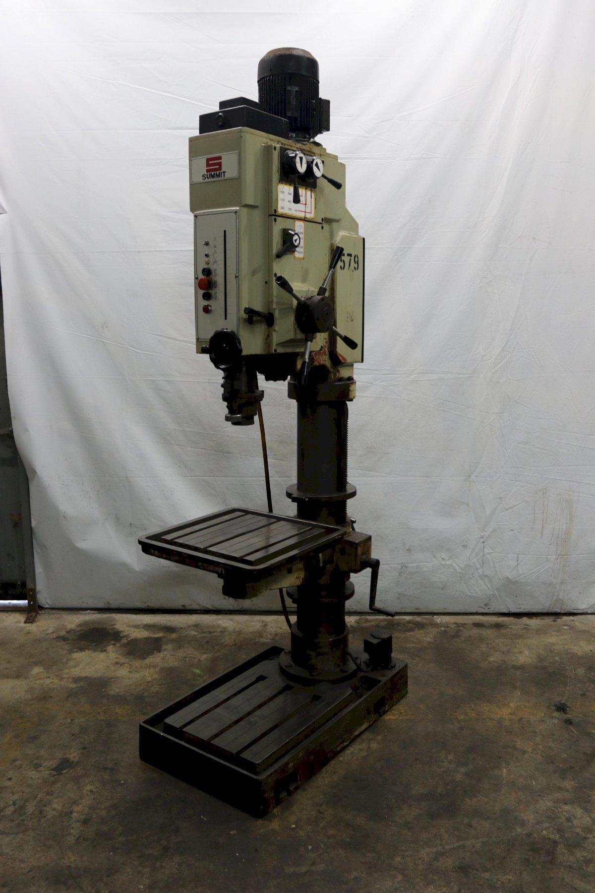 "32"" SUMMIT MODEL #3XHD SINGLE SPINDLE GEARED HEAD DRILL: STOCK #11852"