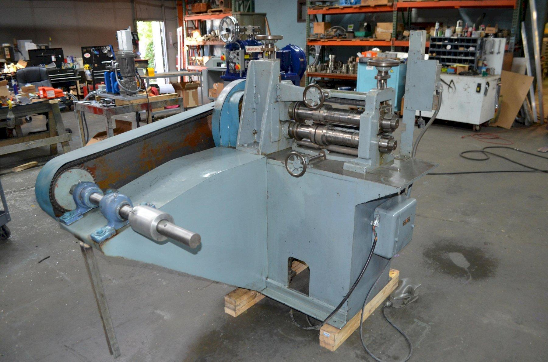 "RUESCH MODEL 76 2.187"" X 14"" PRECISION RING SLITTER WITH SINGLE RECOILER"
